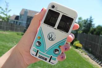jewels coque iphone phone cover volkswagen iphone 4 case iphone 4/4s phone into the wild car van tights blue white