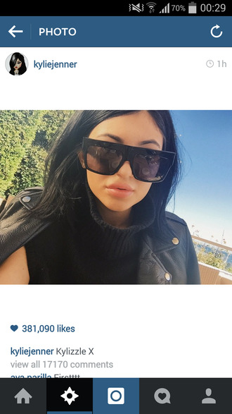 sunglasses kylie jenner oversized flat top edgy