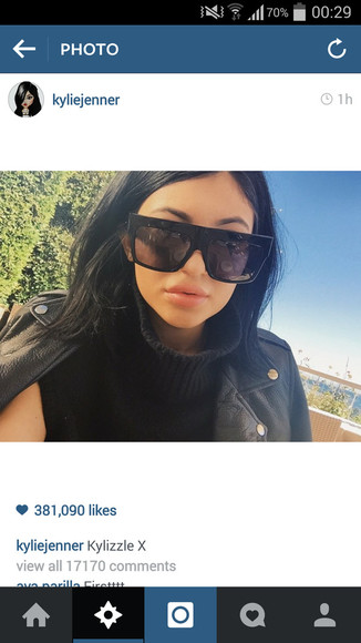 oversized sunglasses kylie jenner flat top edgy style