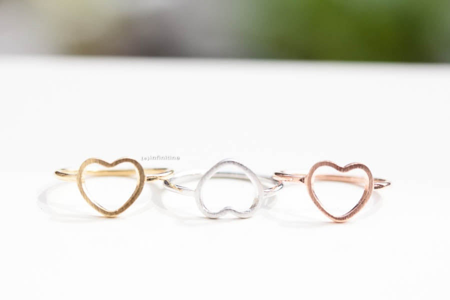 open heart knuckle ring