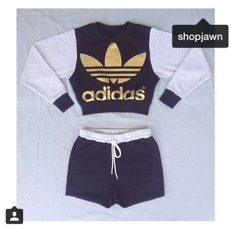 jumpsuit top sweater dope shorts adidas trill style adidas wings adidas tracksuit bottom adidas sweatshirt t-shirt shirt grey sweater grey sweatpants