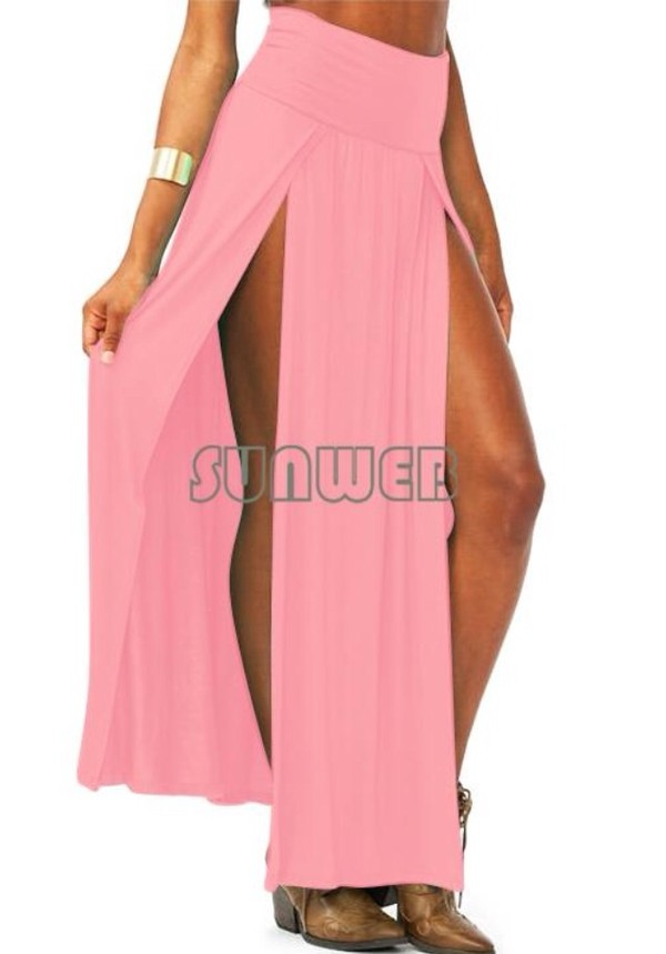 dress pink med slit