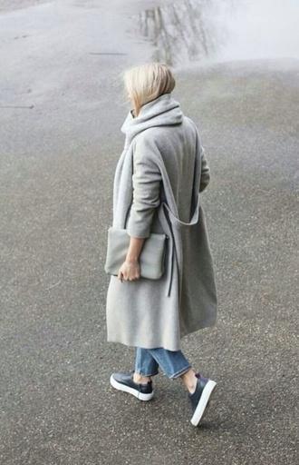 coat grey long coat