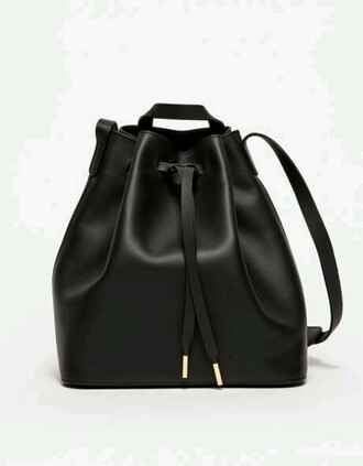 bag black leather bag black leather backpack bucket bag leather bag