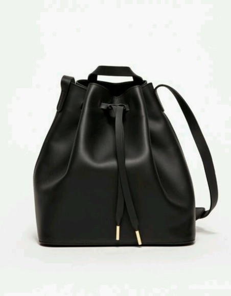 bag leather bag black leather bag black leather backpack bucket bag