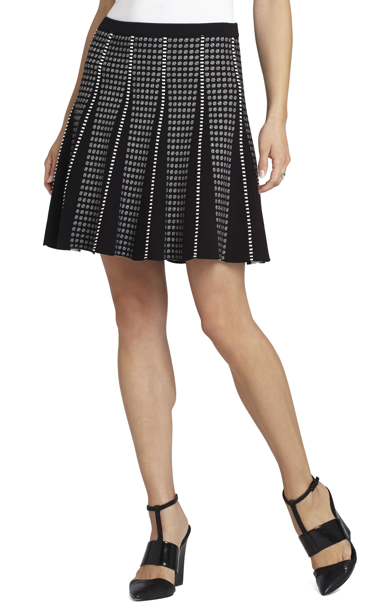 Yaz Piping-Trim A-Line Skirt
