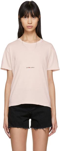 Saint Laurent t-shirt shirt t-shirt vintage pink top