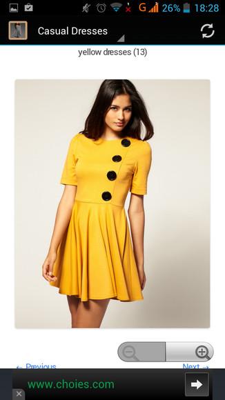 yellow dress short dress 2014 fashion trends