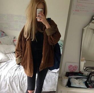 jacket soft grunge vintage fall outfits fall jacket fall