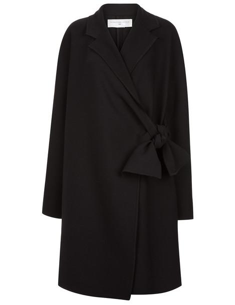 Victoria Victoria Beckham coat tie front black