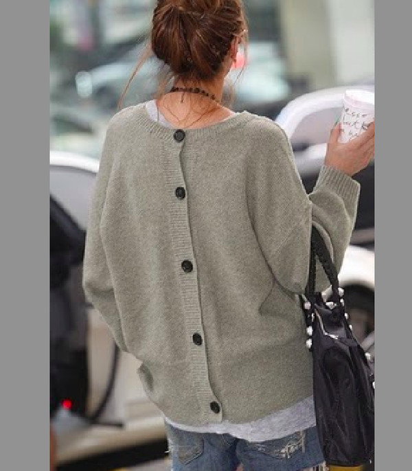 sweater grey back-buttoned cardigan oversized sweater oversized cardigan