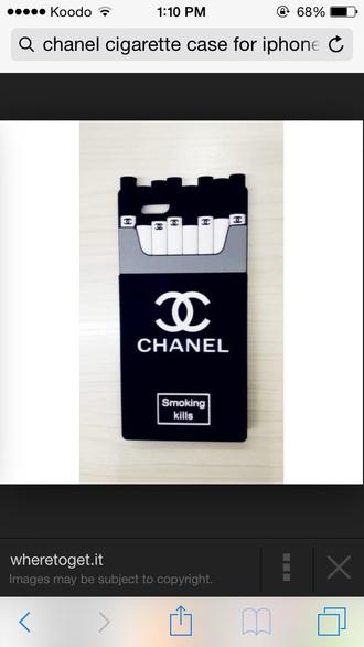 phone cover black&white chane silicon cigs iphone 5 case iphone 6 case cigarettes cigarettes case chanel case chanel case iphone iphone case iphone 6 plus case