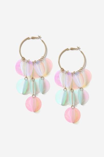 Topshop earrings white jewels