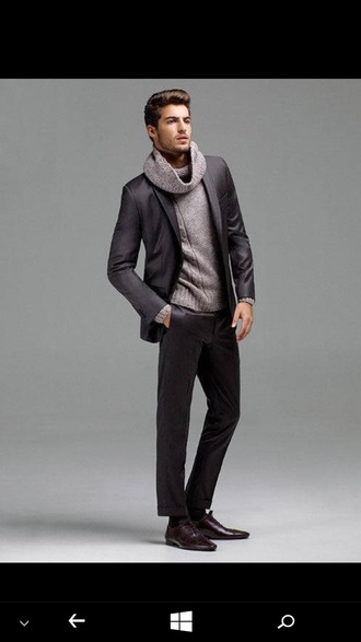 sweater black blazer black plants boy mens sweater