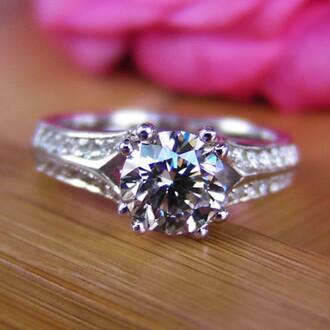 jewels round cut diamond ring diamond engagement ring 1.25 ct round cut sona diamond platinum plated 925 sterling siver engagement ring round cut diamond engagement ring evolees.com