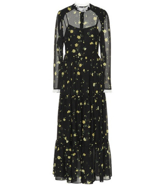 Philosophy Di Lorenzo Serafini Floral printed dress in black