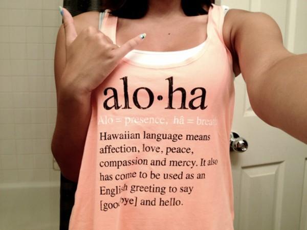 aloha hawaiian hello goodbye hawaiian tank top