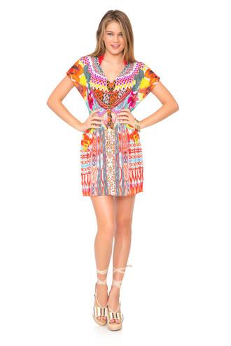 dress caftan luli fama cover up summer dress multicolor bikiniluxe