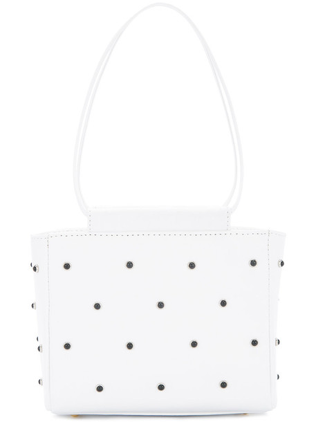 Theatre Products studded bag studded women bag leather white