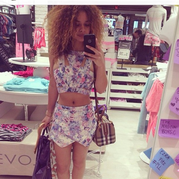 top crop tops purple two-piece two piece dress set girly style shorts fashion flowered shorts flowered shorts floral shirt multicolor print pretty pants shirt romper
