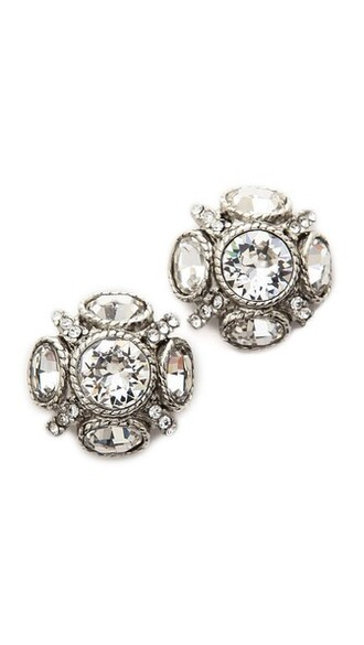 classic earrings silver jewels