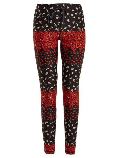 The Upside leggings floral print black pants
