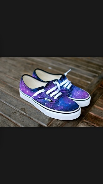 shoes vans purple blue