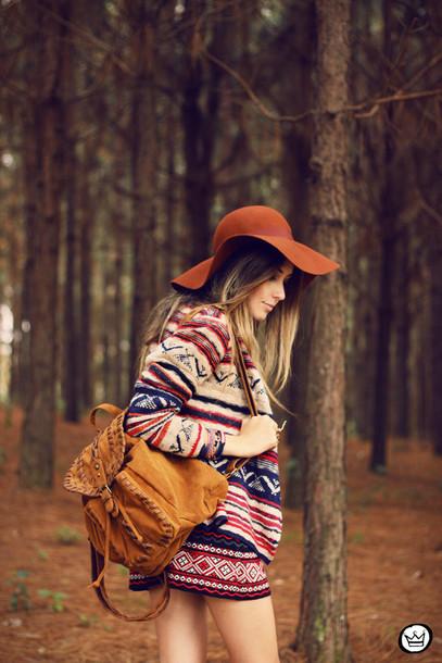 bag suede backpack backpack brown backpack floppy hat hat brown hat shorts  printed shorts jacket printed ba412a851a6