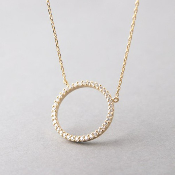 Jewels Circle Pendant Barbados Symbolic Necklace Diamonds Gold