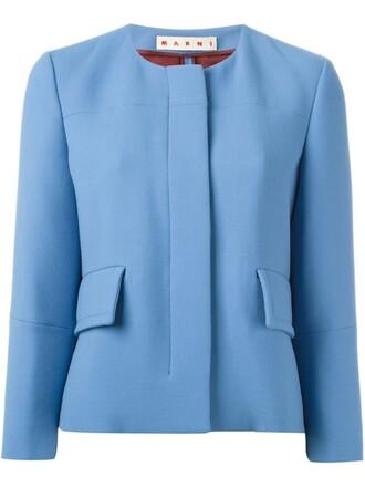jacket fit blue