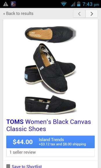 shoes toms classic black canvas