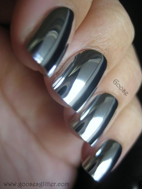 nail polish, nails, metallic, silver - Wheretoget
