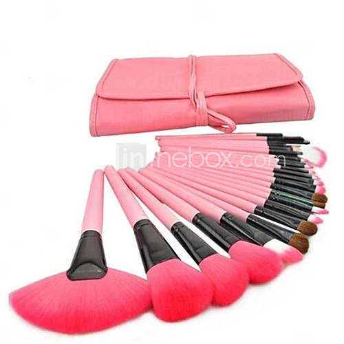[$14.99] 24 Pcs Professional Pink Make-up Brush Set