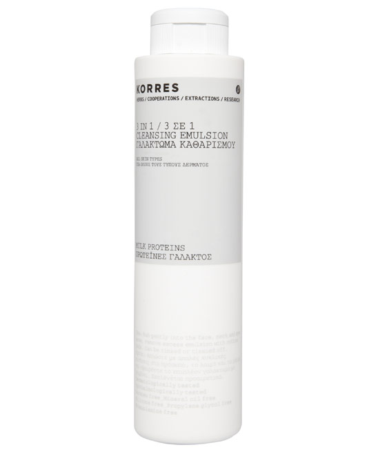 Korres Milk Proteins 3 in 1 Cleansing Emulsion 200ml | Skincare by Korres | Liberty.co.uk