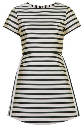 Petite Satin Stripe A-line Dress - Topshop USA