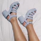 shoes,platform shoes,heels,sandal heels,sandals,platform sandals