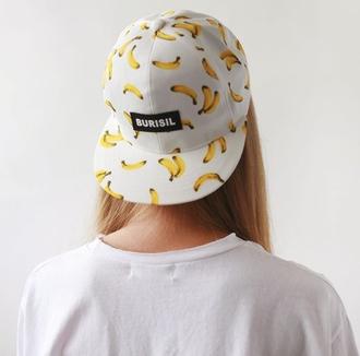 hat cap white snapback white snapback burisil banana white cap