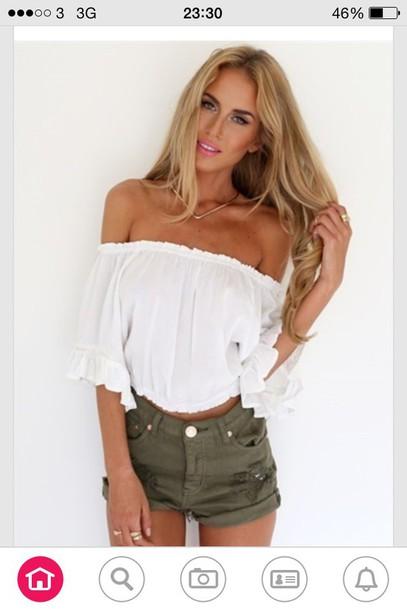 blouse shorts green high waisted shortss