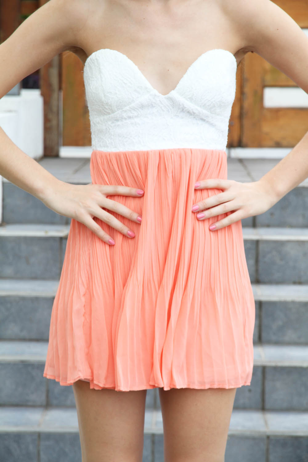 Sabo skirt  coral tea dress