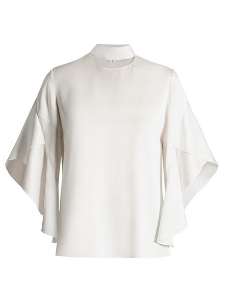 Fendi blouse draped white top