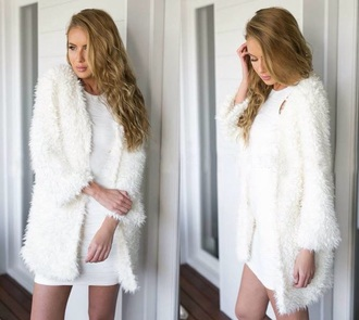 sweater coat all white everything lady winter outfits rose wholesale