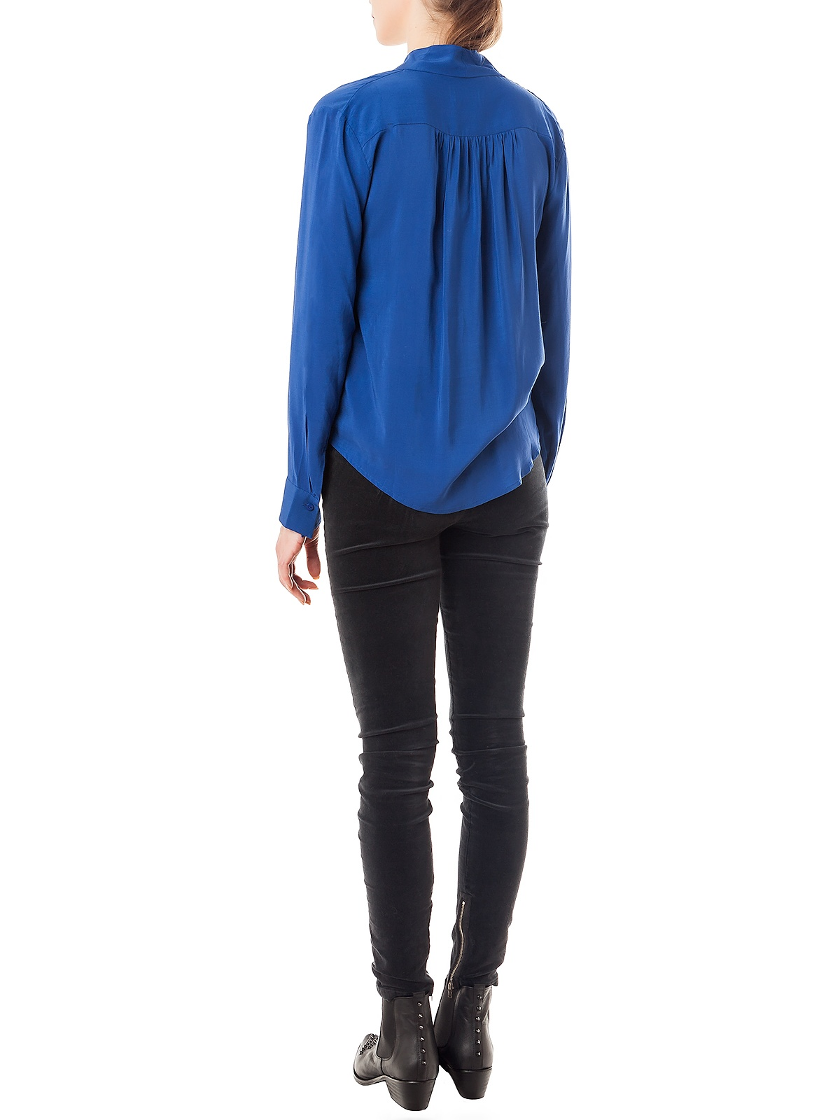 KAROL BLUE BLOUSE | GIRISSIMA.COM - Collectible fashion to love and to last