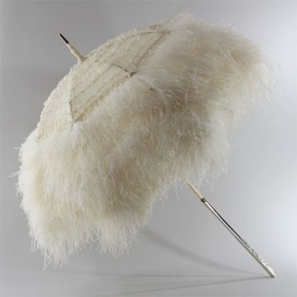 feathers hair accessory umbrella parasol white umbrella white parasol white feathers