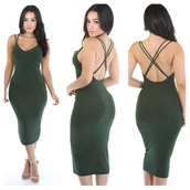 dress,party dress,sexy dress,sexy party dresses,long dress,maxi dress,sundress,strappy dress,spaghetti strap,criss cross,backless dress,green dress