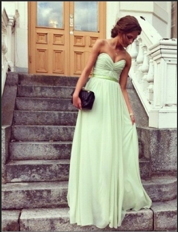 Chic Sage Sweetheart Floor Length Prom Dress/Graduation Dress from Sweetheart Girl on Storenvy