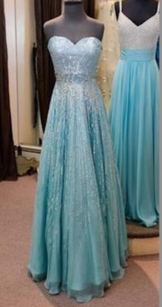 blue dress elsa frozen prom dress prom dress frozen