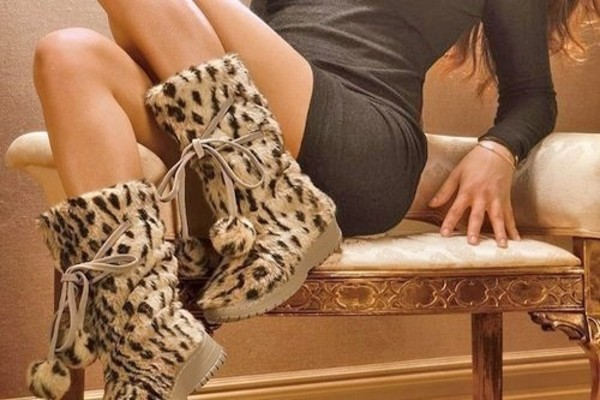 shoes boots fluffy tan wedges animal print leopard print warm winter outfits leopard print leopard print