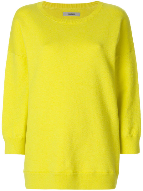 sweatshirt women spandex cotton yellow orange sweater