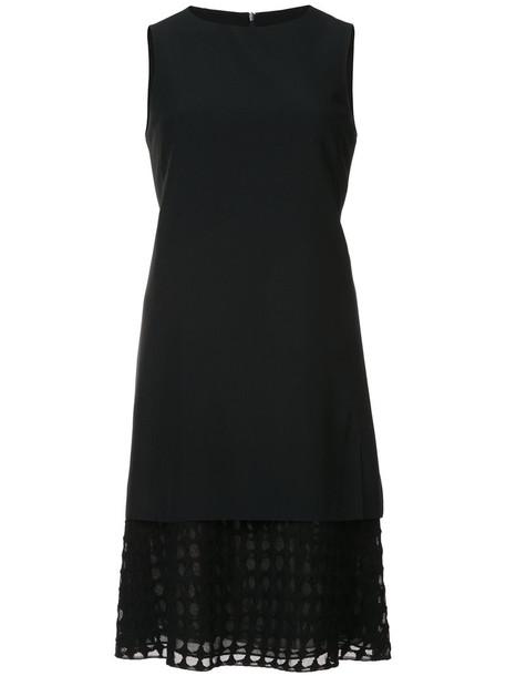 Akris punto dress sleeveless women layered black