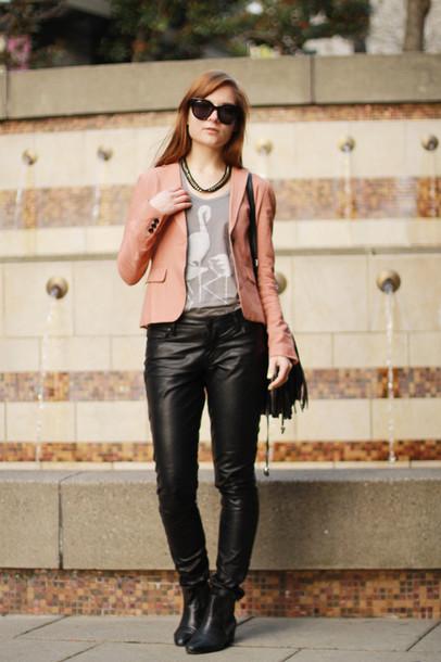 velvet venue jacket bag jewels t-shirt pants sunglasses